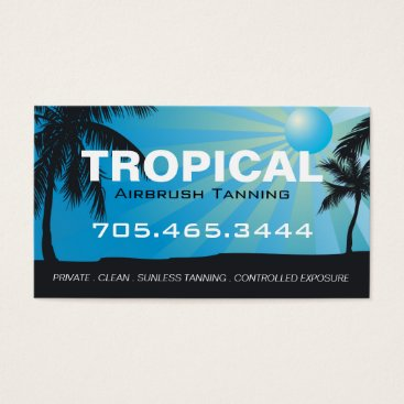 Professional Business Mobile Tanning Salon Business Card