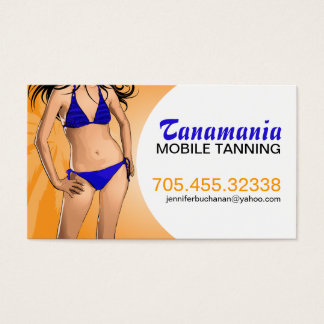 Mobile Tanning Salon Business Card Template