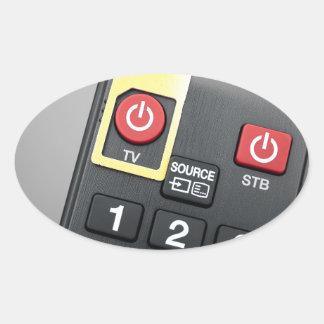 Mobile TV Oval Sticker