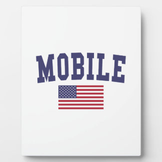 Mobile US Flag Plaque