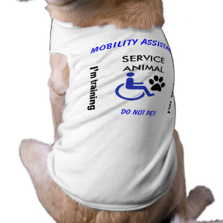 Mobility Assistance - I'm Training Dog T-shirt