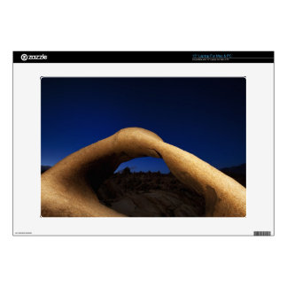 """Mobius Arch illuminated in the Alabama Hills Skins For 15"""" Laptops"""