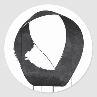 Mobius Enso Symbol Classic Round Sticker