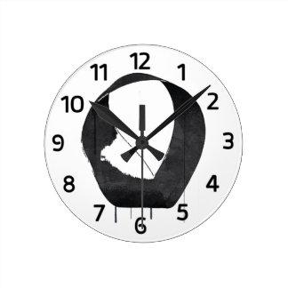 Mobius Enso Symbol Round Clocks