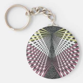 mobius strip chevron sphere keychain