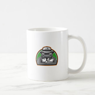 Mobster Car Grille Face Arms Folded Front Retro Coffee Mug