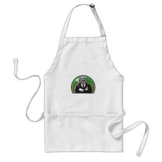 Mobster Car Grille Face Circle Retro Adult Apron