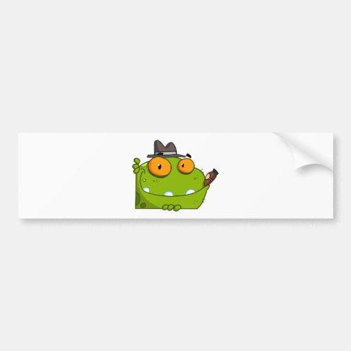 Mobster Frog Cartoon Character Bumper Sticker