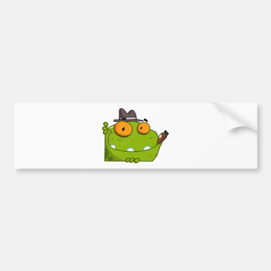 Mobster Frog Cartoon Character Bumper Sticker