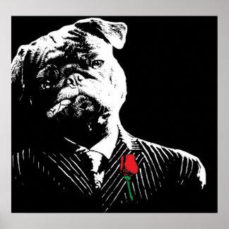 Mobster Pug Poster