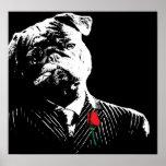 Mobster Pug Posters