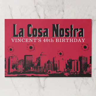 Mobster Themed Party Paper Placemat