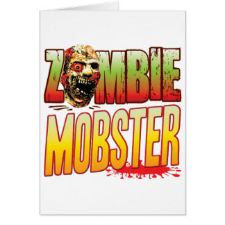 Mobster Zombie Head Greeting Card