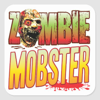 Mobster Zombie Head Stickers