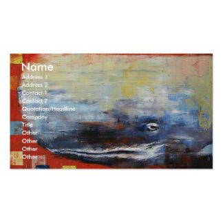 Moby Dick Double-Sided Standard Business Cards (Pack Of 100)