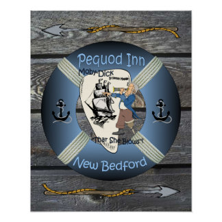 Moby Dick ~ Captain Ahab ~ Pequod Inn Pub Sign ~