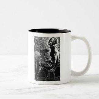 Moby Dick Captain Ahab Two-Tone Coffee Mug