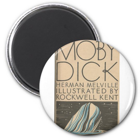 Moby Dick Cover 2 Inch Round Magnet