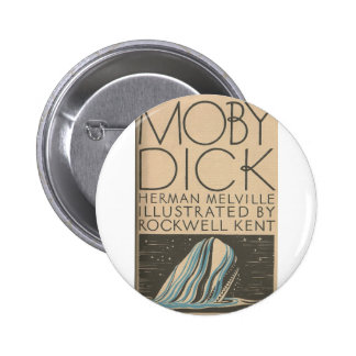 Moby Dick Cover Pinback Buttons