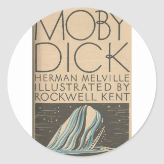 Moby Dick Cover Classic Round Sticker