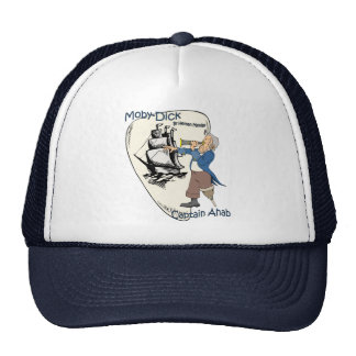 Moby-Dick or The Whale ~ Captain Ahab ~ Spyglass Trucker Hat