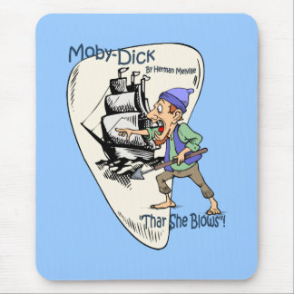 """Moby-Dick"" ~ Whale Spotter ""Thar She Blows"" Mouse Pad"