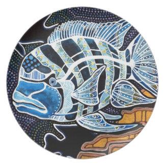 Moby the Cichlid Melamine Plate