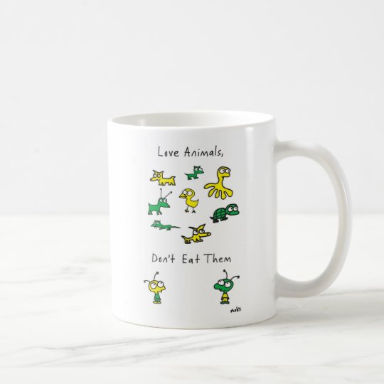 Moby's Love Animals, Don't Eat Them Mug
