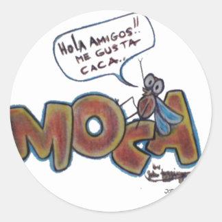 Moca Caca Classic Round Sticker