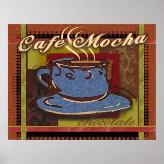 Moca del café impresiones