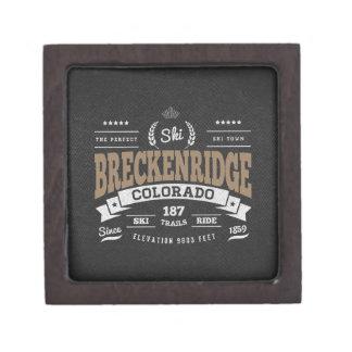 Moca del vintage de Breckenridge Cajas De Recuerdo De Calidad