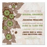 Moca elegante e invitaciones nupciales verdes de invitacion personal