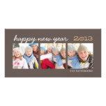 Moca Photocard de la foto de la Feliz Año Nuevo tr Tarjeta Fotografica Personalizada