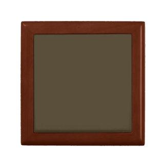Moca sólida Brown Caja De Regalo