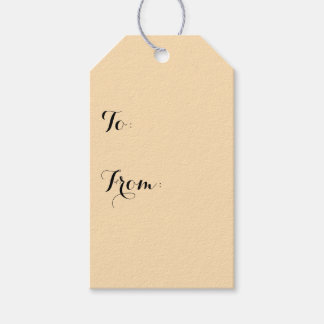 Moccasin Solid Color Gift Tags