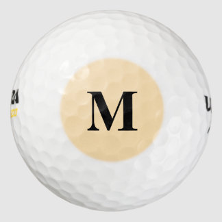 Moccasin Solid Color Golf Balls