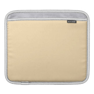 Moccasin Solid Color Sleeve For iPads