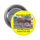 Moccasin's HOPE - save Wild Horses & Burros Button