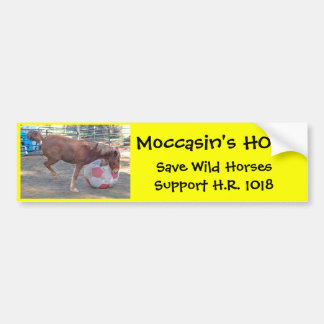 Moccasin's HOPE - save Wild Horses & Burros Car Bumper Sticker
