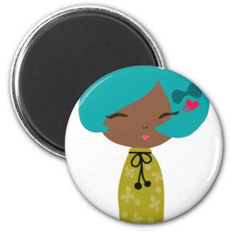 Mocha 2 Inch Round Magnet