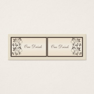 Mocha and Ivory Floral Drink Tickets