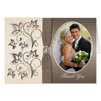 Mocha and Ivory Photo Thank You Card
