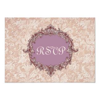Mocha and Purple RSVP Wedding Response Card