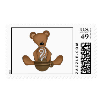 Mocha Bear (template) Postage Stamp
