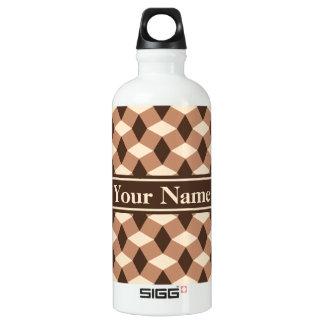 Mocha Brown and Almond Wavy Pattern Bottle