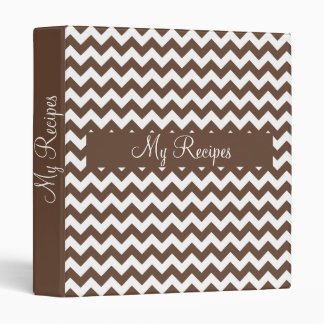Mocha Brown Chevron Binder