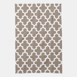 Mocha Brown Modern Moroccan Pattern Towels