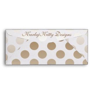 Mocha Cream Polka Dot Envelope