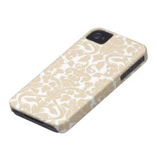 Mocha Damask iPhone 4 Case