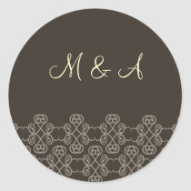 mocha damask stickers